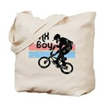 1980s BMX Boy Distressed Tote Bag