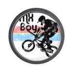 1980s BMX Boy Distressed Wall Clock