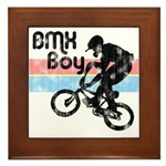 1980s BMX Boy Distressed Framed Tile