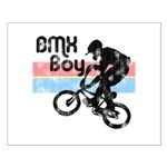 1980s BMX Boy Distressed Small Poster