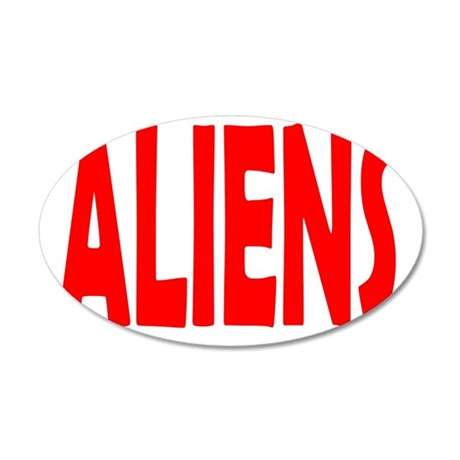 ALIENS 20x12 Oval Wall Decal