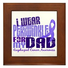 I Wear Periwinkle 6.4 Esophageal Cancer Framed Til