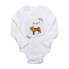 Unique Liger Long Sleeve Infant Bodysuit