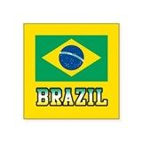 "Brazil Square Sticker 3"" x 3"""