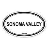 Sonoma Valley oval Oval Decal
