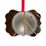 DRUM PEACE Picture Ornament