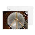 DRUM PEACE Greeting Cards (Pk of 10)