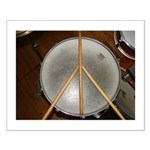 DRUM PEACE Small Poster