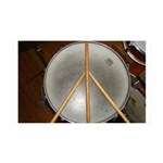 DRUM PEACE 35x21 Wall Decal