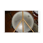 DRUM PEACE 20x12 Wall Decal