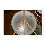 DRUM PEACE Sticker (Rectangle 50 pk)