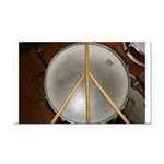 DRUM PEACE Rectangle Car Magnet