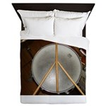 DRUM PEACE Queen Duvet