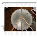 DRUM PEACE Shower Curtain