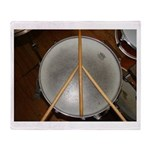 DRUM PEACE Throw Blanket