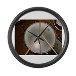 DRUM PEACE Large Wall Clock