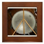 DRUM PEACE Framed Tile