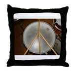DRUM PEACE Throw Pillow