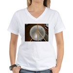 DRUM PEACE Women's V-Neck T-Shirt