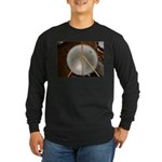 DRUM PEACE Long Sleeve Dark T-Shirt