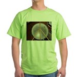 DRUM PEACE Green T-Shirt