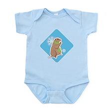 Cute Winter Groundhog Infant Bodysuit