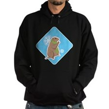 Cute Winter Groundhog Hoodie