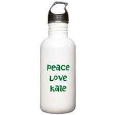 Peace Love Kale Water Bottle