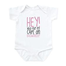 Hey! Who Put My Cape On Backwards? Infant Bodysuit