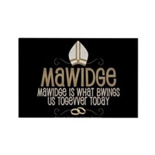 Princess Bride Mawidge Wedding Rectangle Magnet