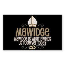 Princess Bride Mawidge Wedding Decal