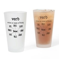 Maternity Verb Baby Drinking Glass