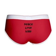 Peace Love Kale Women's Boy Brief