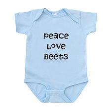 Peace Love Beets Infant Bodysuit