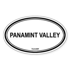 Panamint Valley oval Oval Decal