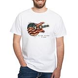 Guitar t-shirts Mens White T-shirts
