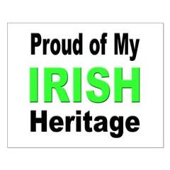 Proud Irish Heritage Small Poster