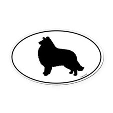 Collie Oval Car Magnet