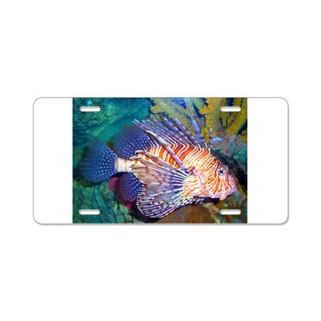 Lion or Turkey Fish Aluminum License Plate