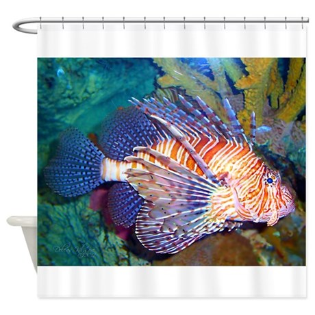 Lion or Turkey Fish Shower Curtain