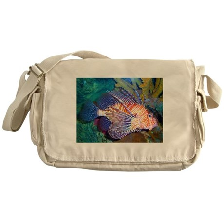 Lion or Turkey Fish Messenger Bag