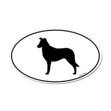Smooth Collie Oval Car Magnet