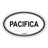 Pacifica oval Oval Decal