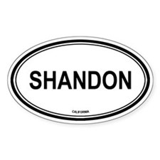 Shandon oval Oval Decal
