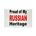 Proud Russian Heritage Rectangle Magnet (10 pack)