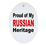 Proud Russian Heritage Oval Ornament