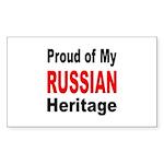 Proud Russian Heritage Rectangle Sticker