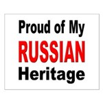 Proud Russian Heritage Small Poster