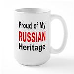 Proud Russian Heritage Large Mug
