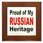 Proud Russian Heritage Framed Tile